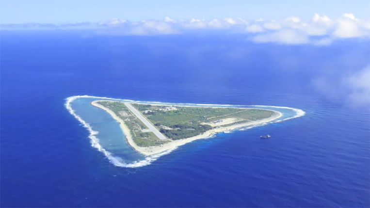 Minamitorishima in de Stille Oceaan, ook wel Marcuseiland genoemd.