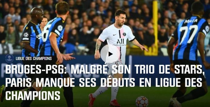 RMC over Club Brugge-PSG.