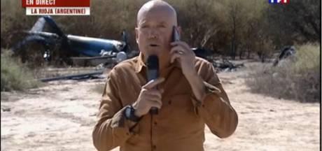 Le duplex de TF1 devant la carcasse de l'hélicoptère fait scandale