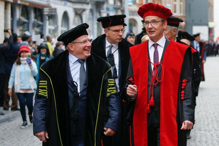KU Leuven-rector Luc Sels bij de opening van het academiejaar. Beeld BELGA