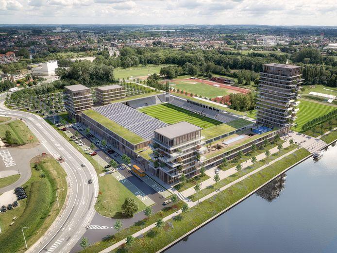 Het toekomstige stadion van KMSK Deinze.