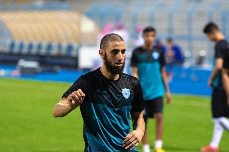 Youssef El Jebli op de training bij Al-Batin. Beeld