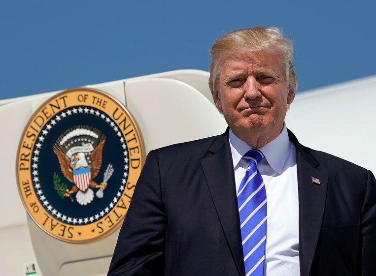 Donald Trump bezocht woensdag de staat North Dakota. Beeld ap