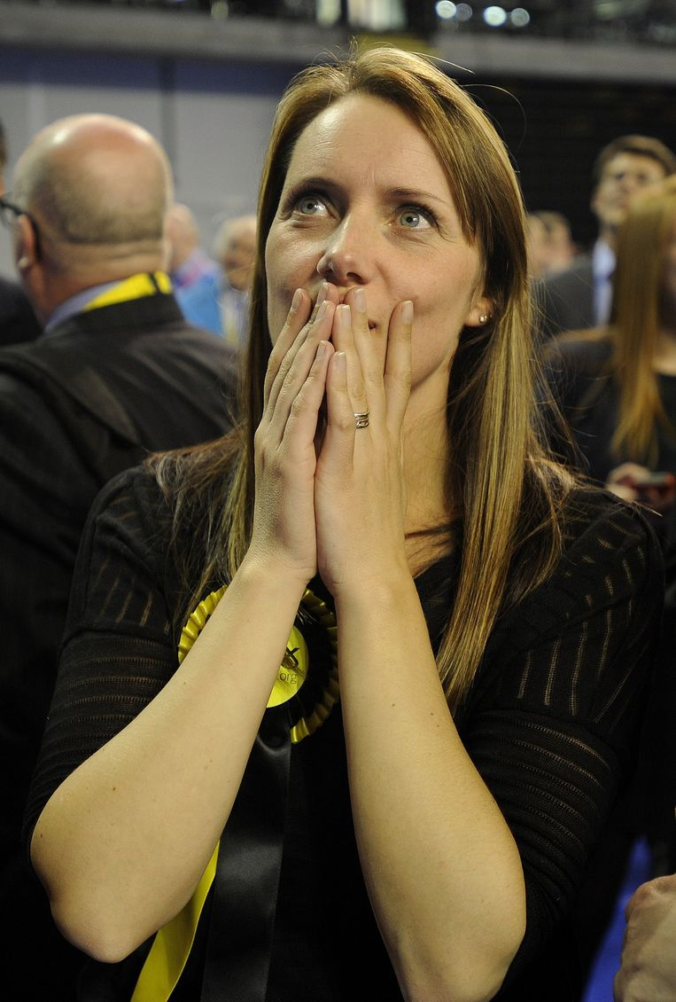 Een supporter van de Schotse Nationale Partij SNP). Beeld afp
