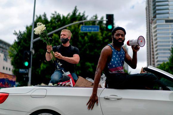 Demonstranten in Los Angeles, Californië. (06/06/2020)