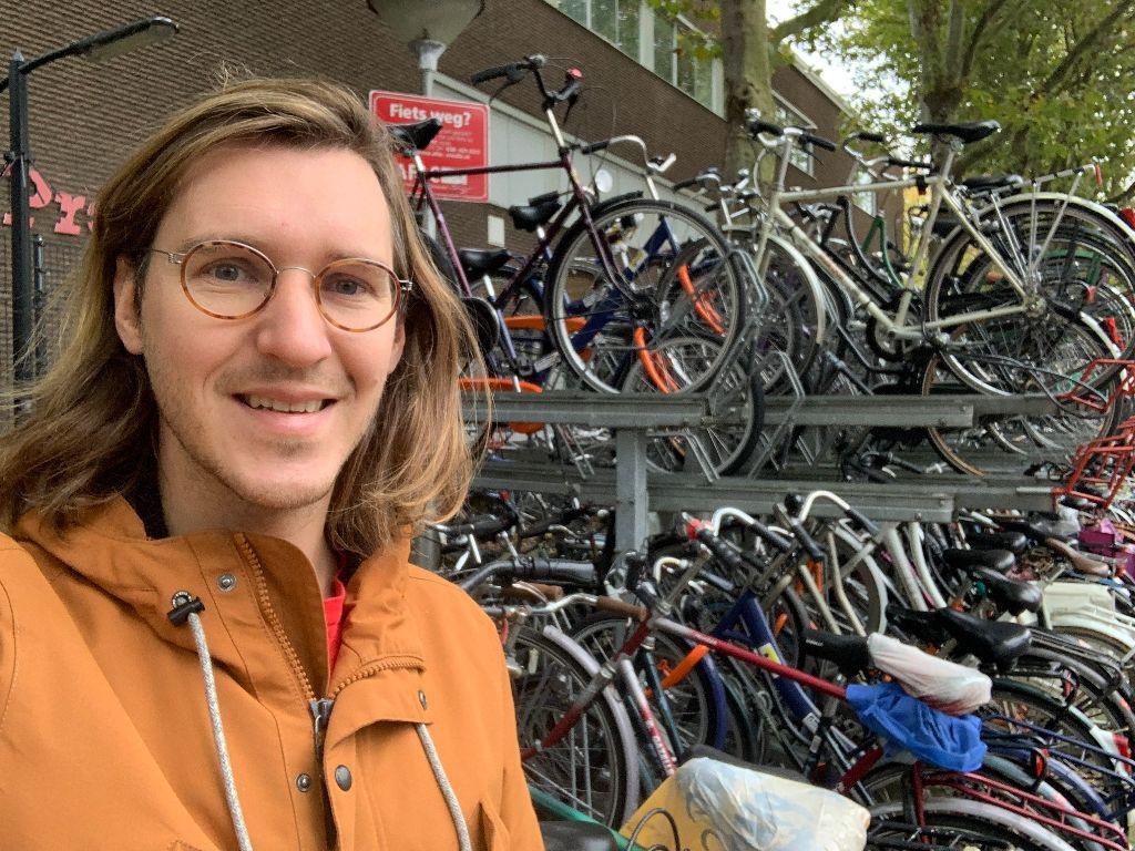 Sander van Dijk, bedenker van het fietsenplan voor studenten in Zwolle.