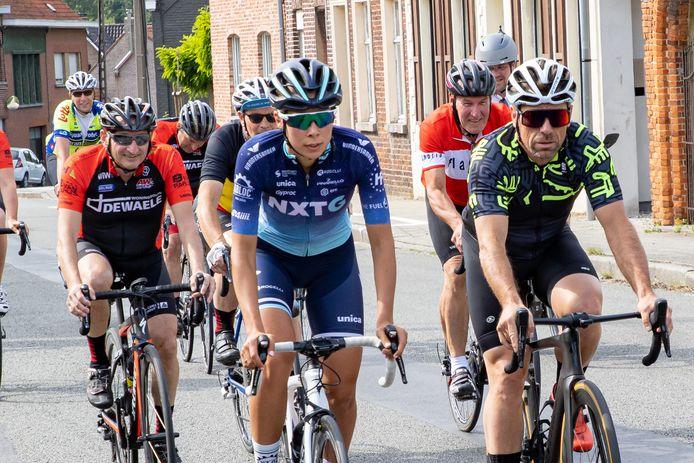 Eeckhout (rechts) verkent het BK-parcours.