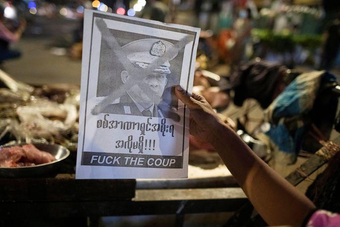 Duidelijke boodschap tegen opperbevelhebber en coupleider Min Aung Hlaing