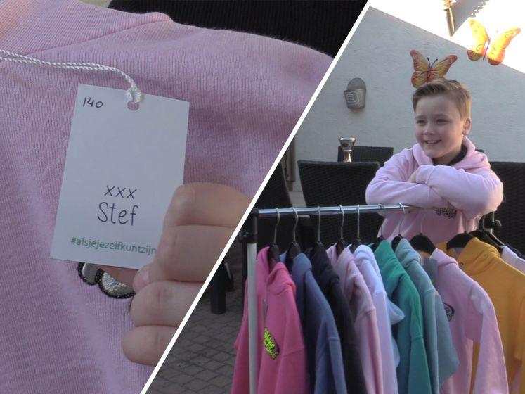 Stef Smits (9) start eigen kledinglijn: 'Voor kinderen die gepest worden'