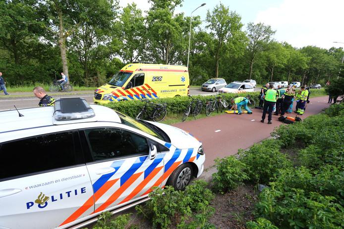 Ongeluk op fietspad in Oirschot