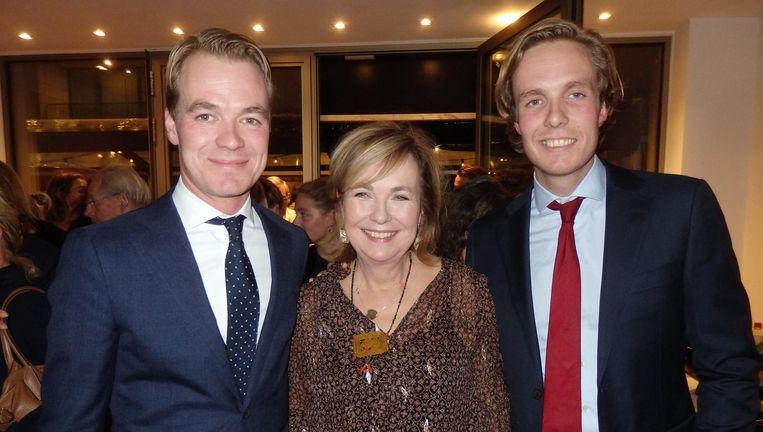 Makelaarsdynastie: moeder Barbara van der Grijp en haar zonen Wieger en Tjerk van der Linden.