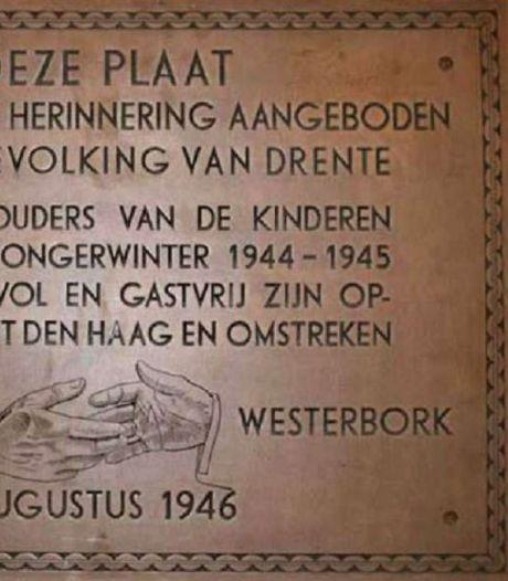 Gedenkplaat van Haagse ouders voor opvang tijdens hongerwinter voor de tweede keer kwijt