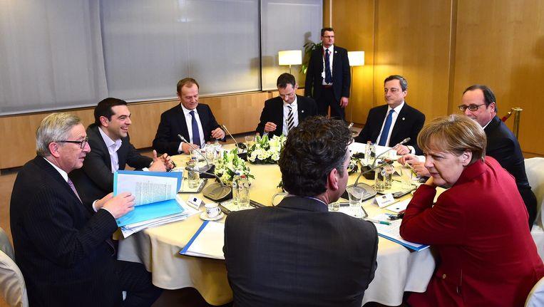 Het spoedoverleg in Brussel Beeld epa