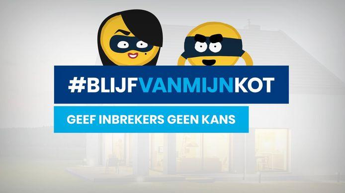 De campagne van de politie, met een knipoog naar de slogan van Maggie De Block.