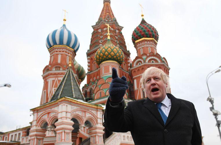 Boris Johnson, Brits minister van Buitenlandse Zaken, is vandaag in Moskou. Beeld Photo News