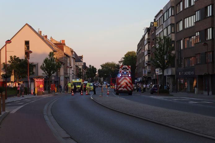 De Weverstraat werd enkele uren afgesloten voor alle verkeer.