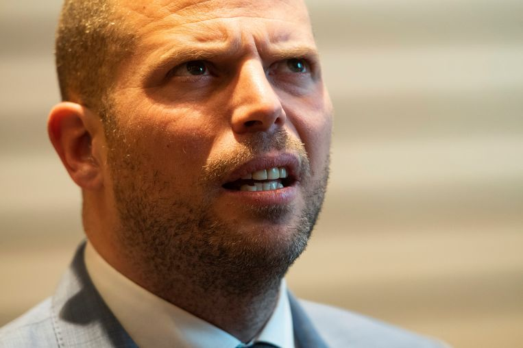 Theo Francken zette als staatssecretaris voor Asiel en Migratie sterk in op steun voor bedreigde religieuze minderheden in het Midden-Oosten. Beeld Photo News