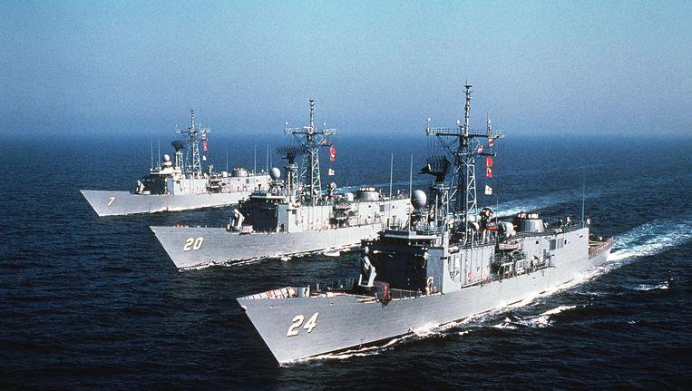 Oliver Hazard Perry Class-fregatten van de Amerikaanse marine. Beeld US Department of Defense