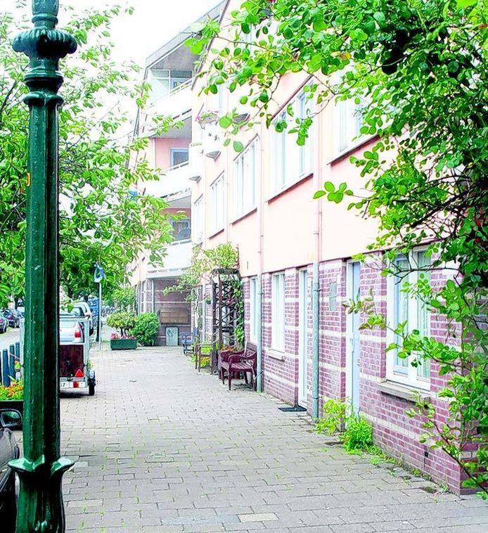Het huizenblok in de Haagse Van Bylandtstraat waar 'La Signora' Trees N. en haar partner wonen. FOTO AD