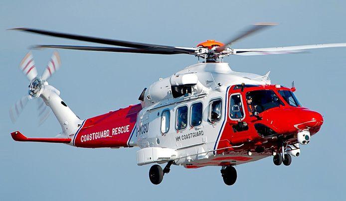 Een reddingshelikopter van Bristow.