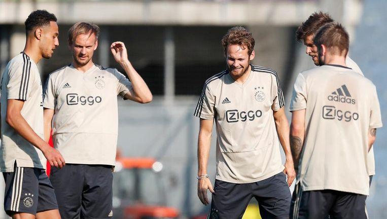 Ajax bereidt zich voor op de return tegen Sturm Graz. Beeld Pro Shots