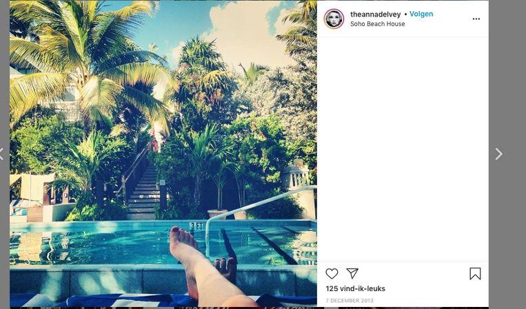 'Ik heb nooit gedacht dat ik indruk kon maken met geld. Er zijn zoveel rijke mensen in New York, wie kan het wat schelen?' (Foto's: beelden van haar Instagram-account.) Beeld Instagram