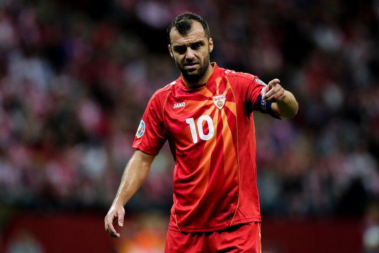 Goran Pandev, 37 jaar oud, 117 interlands voor Noord-Macedonië, 36 doelpunten. Beeld Getty Images
