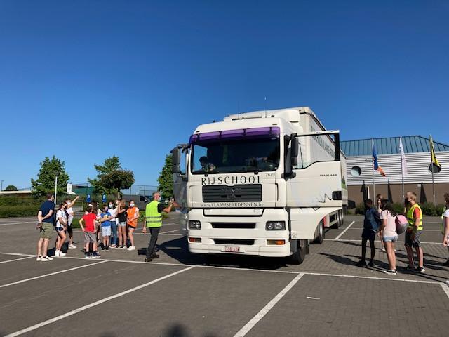 ...en leerden over de gevaren van de dode hoek bij vrachtwagens.