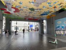 La fresque des Schtroumpfs à la Gare Centrale de Bruxelles a été restaurée