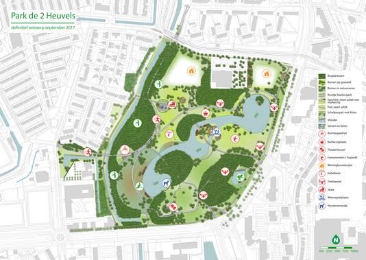 Ontwerp Park de Twee Heuvels.