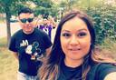 Aurora Chacon Esparza met haar echtgenoot Juan Duran.
