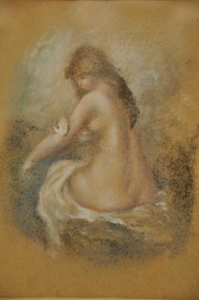 'Bathing nude', door De Atlas toegeschreven aan Renoir. foto De Atlas
