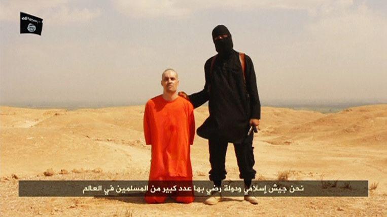 James Foley in een still uit de video waarin te zien is hoe hij werd onthoofd. Beeld Reuters
