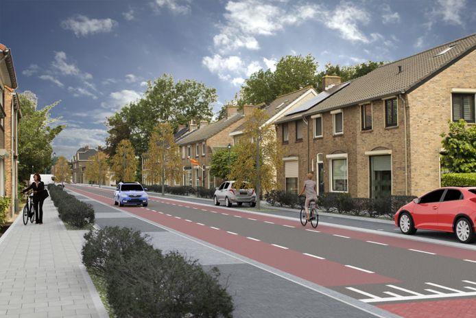 Zo moet de Steenweg in Moerdijk worden: groener, veiliger en voorzien van meer parkeerplaatsen.