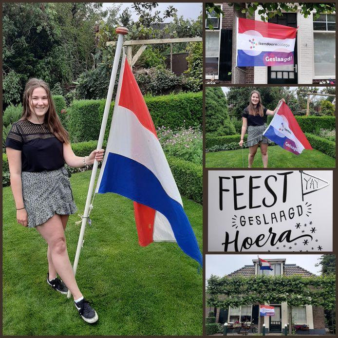 De 18-jarige Marcella Holmer uit Laren heeft op het Isendoorn college in Warnsveld haar vwo- diploma behaald. Ze gaat nu Sociologie studeren aan de Radboud Universiteit in  Nijmegen.