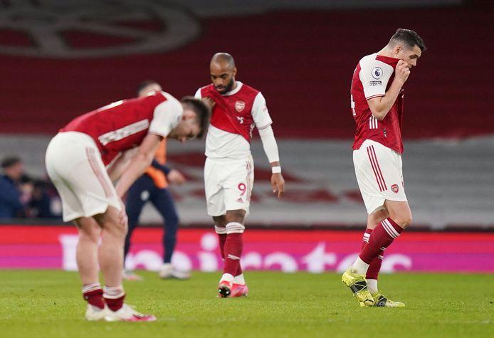 Teleurstelling bij Arsenal.