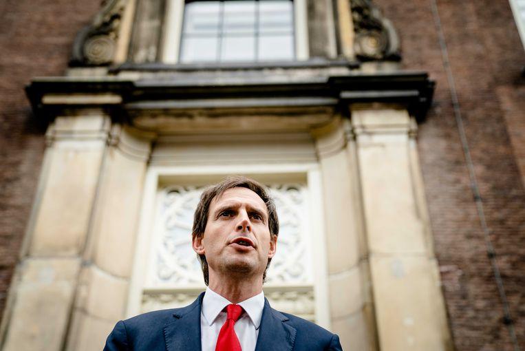 Demissionair minister Wopke Hoekstra (Financiën): 'Het kabinet gaat zich beraden over of er ingrepen nodig zijn en zo ja, welke dan.' Beeld ANP