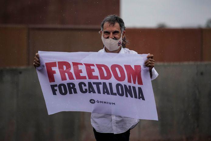 Jordi Cuixart, l'un des neuf indépendantistes catalans graciés par l'État espagnol