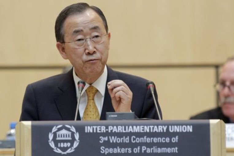 Secretaris-generaal van de NAVO Ban Ki-moon. ANP Beeld