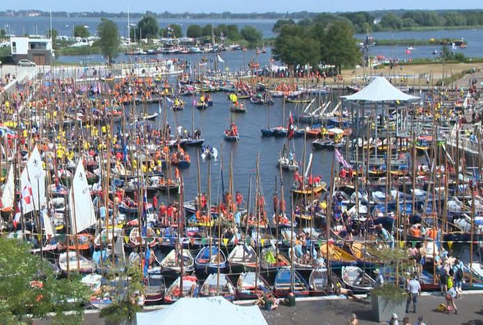 Zelden is de haven van het scoutingterrein bij Zeewolde voller geweest.