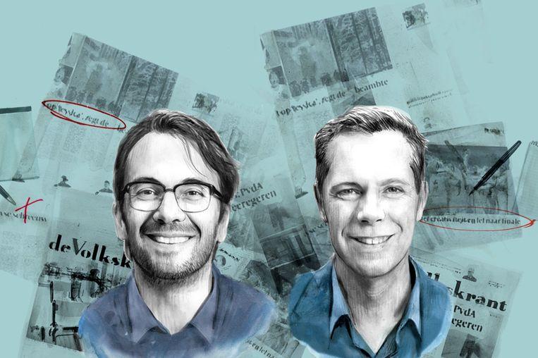 Pieter Klok, plaatsvervangend hoofdredacteur, en hoofdredacteur Philippe Remarque. Beeld null