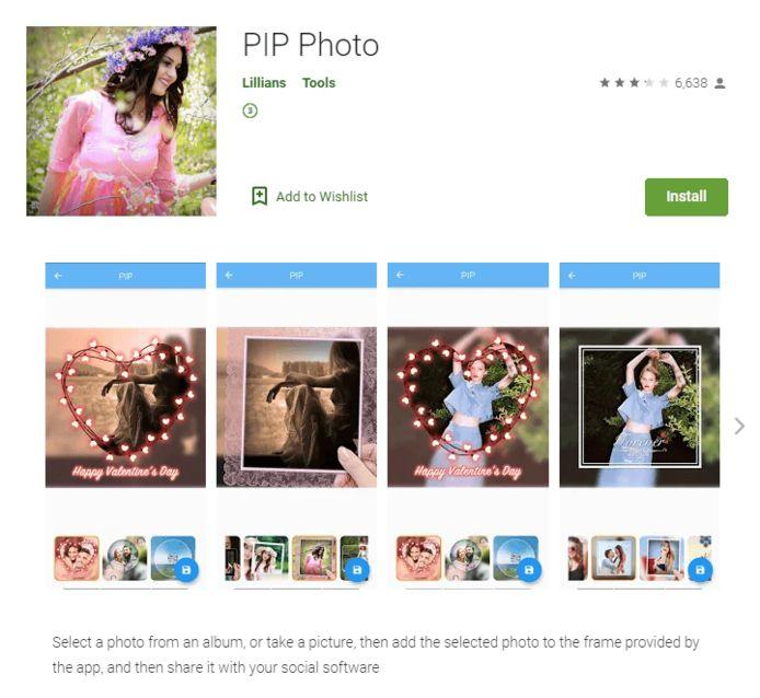 De app PIP Photo werd ruim 5 miljoen keer gedownload.