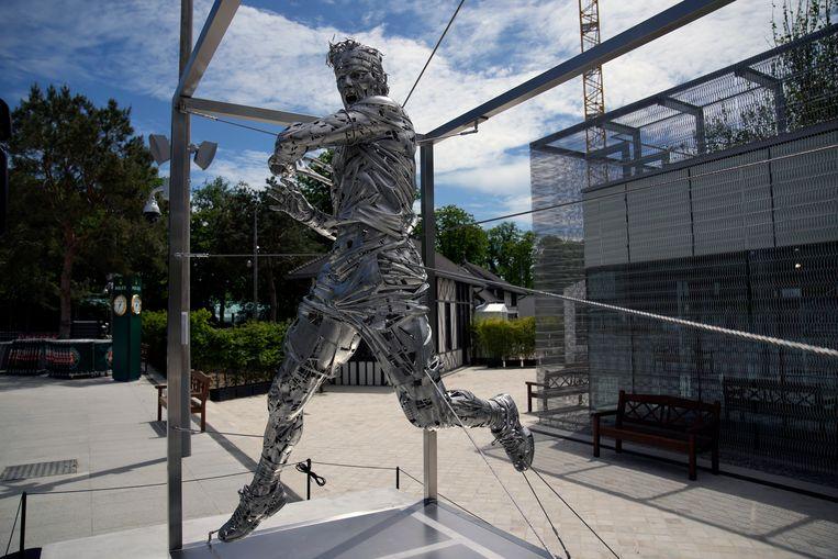 Het standbeeld van Rafael Nadal.  Beeld AP