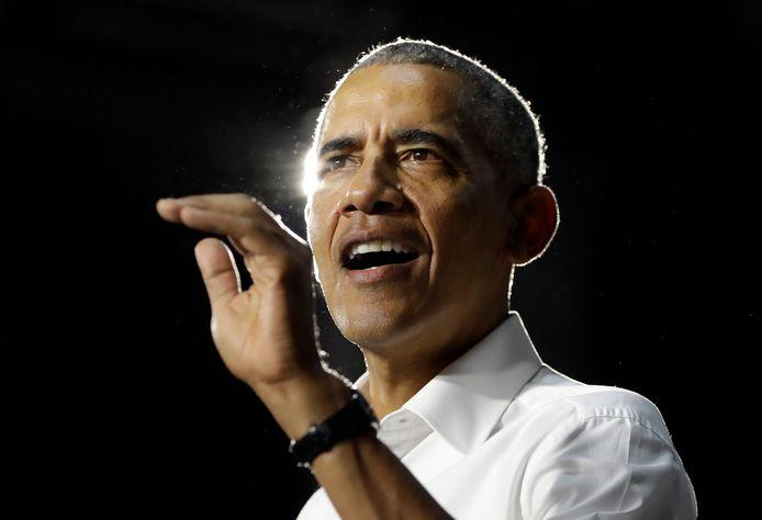 Barack Obama spreekt Democraten toe tijdens een bijeenkomst in Miami in 2018.