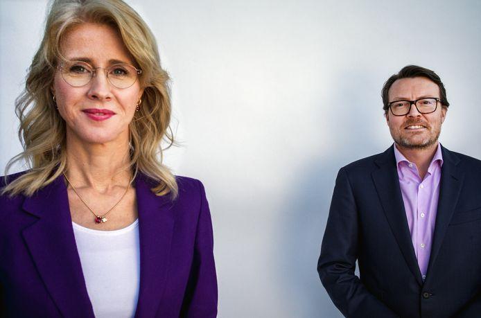 Staatssecretaris Mona Keijzer van Economische Zaken en Klimaat en prins Constantijn, boegbeeld van TechLeap.