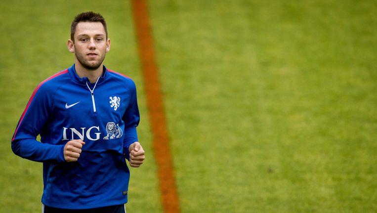 Stefan de Vrij tijdens de training van het Nederlands elftal Beeld anp