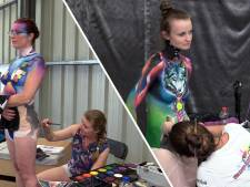 Beschilderde lijven in Oosterhout: decor van het World Bodypainting Festival