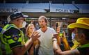 Tijdens een protest in Rotterdam tegen de mondkapjesplicht, 5 augustus 2020.