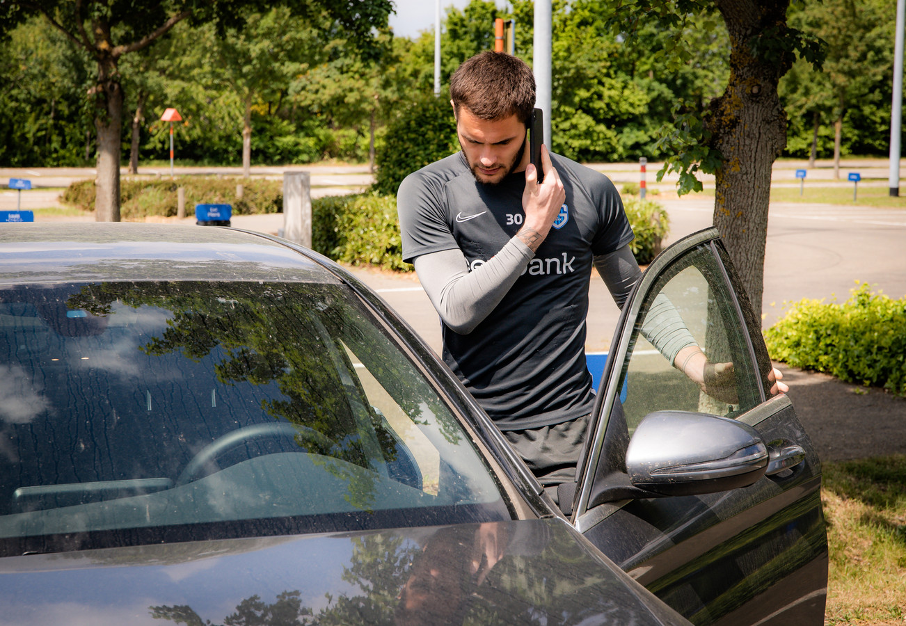 Thomas Didillon keert naar huis na de training van vandaag.