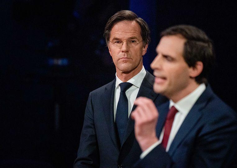 CDA-lijsttrekker Wopke Hoekstra hakte bij EenVandaag hard in op het PvdA-plan om de belastingen voor bedrijven met 42 miljard euro te verhogen. Beeld BART MAAT/ANP